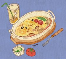 Food - Oven-baked Spaghetti by PPOMO