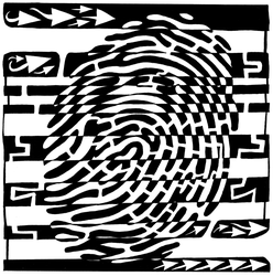 Fingerprint Scanner Maze by ink-blot-mazes
