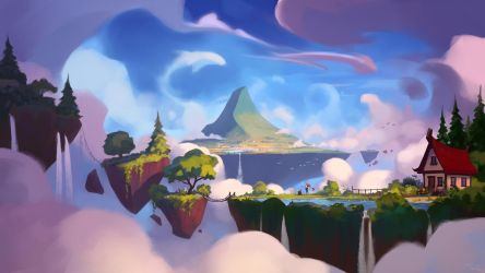 Flying islands by TailHug