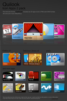 Quilook - 2 set apps icons by pawelacb