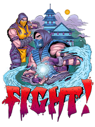 Mortal Kombat Print T-shirt by Tadory