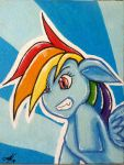 MLP: Rainbow Dash Traditional by BazSg