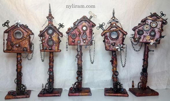 Steampunk Houses by MarilynMorrison