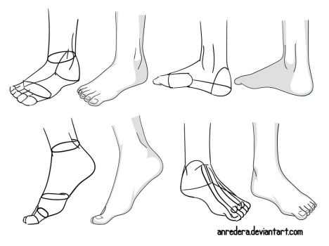 Foot Tutorial 2 - Different Poses by anredera