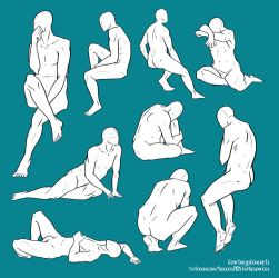 F2U Base/Pose Reference - Various Sitting Poses by CourtneysConcepts
