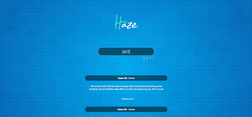 The Haze search engine/ start page experiment by haze007