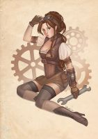 Steampunk Pin-Up - Ms. Abigail P. Calbury by Flying4Freedom