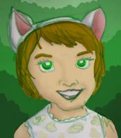 Catgirl - green by gaudog