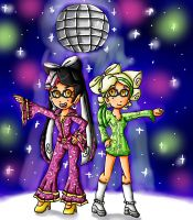 Disco Squids by ninpeachlover