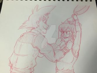 DBZ-Smile like you mean it WIP by DeathByMarshmallows