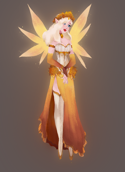 Fanmade Skin: Fairy Mercy by snownymphs