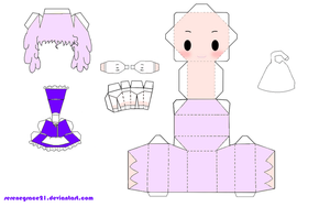 Touhou: Letty Whiterock Papercraft by serenegrace21