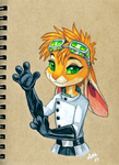Prismacolor Bunbun by Skeleion