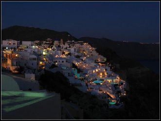 Greece - Oia By Night by AgiVega