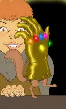 TLIID - The Infinity Gauntlet held by... Tippy-Toe by Nick-Perks