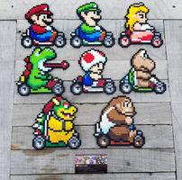 Mario Kart - Video Game Perler Bead Sprites by MaddogsCreations