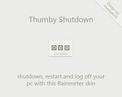 Thumby Shutdown Rainmeter by murasaki55