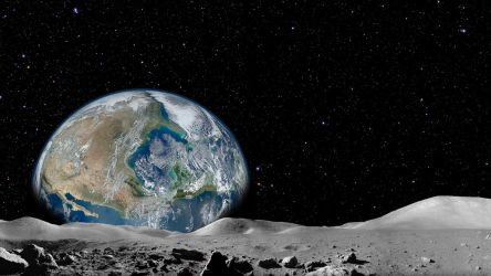 Earth Rise - Large Earth by Mainer82