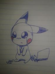 The leyends/pikachu: pikachu crying by lopez765