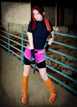 You Lose, Big Guy-RE2 Claire Redfield Cosplay by Hamm-Sammich