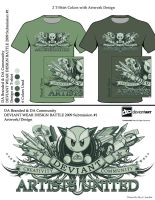 Da  Design 2 color shirts by reyjdesigns