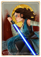Rey - Star Wars Tarot Card by giadina96