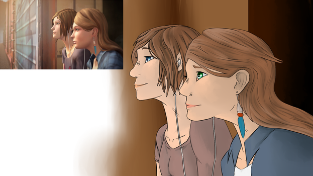 screenshot redraw Life is strange Before the storm by PaperTiger-63
