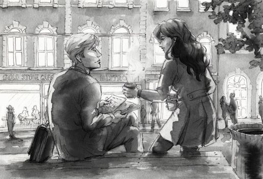 Coffee for two by AkiaWalker