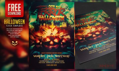 FREE Halloween Flyer Template by ranvx54
