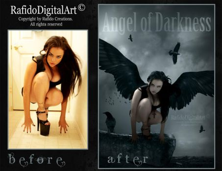 before-after angel of darkness by Rafido