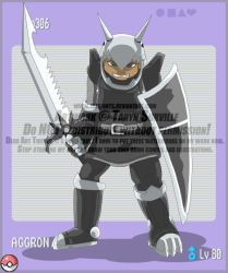 Aggron Knight by tazsaints