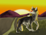 At Sunset With Twilight Pawpad (YCH CM) by Gerundive