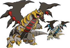 487 - Giratina (Altered Forme) - art v.2 by Tails19950