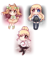 Sketch Chibi Ocs by jeash022