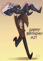 HAPPY DAY OF BIRTH TO MY OVERLORD, AJ by hopehound