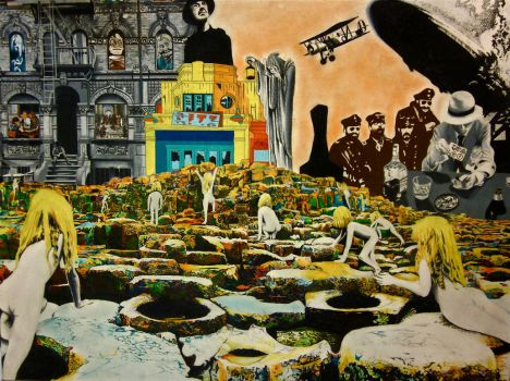 Led Zeppelin Collage Their album covers by rochafeller