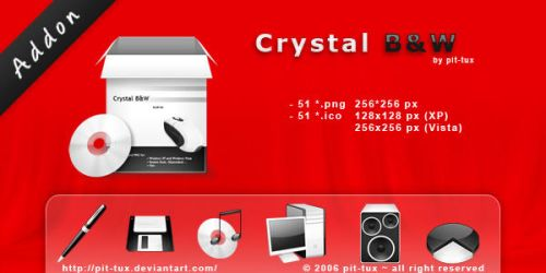 Crystal B and W Addon by pit-tux