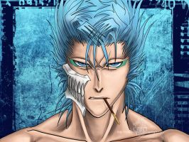 GRIMMJOW n pocky -bust- wallpr by blackstorm