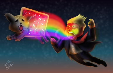 Donald Trump Nyan Cat 2016 01 by johnnydwicked