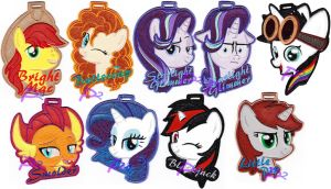 More Vinyl Badges Offered At BronyCon 2018 by kiashone