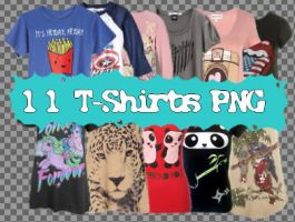 11 T-shirt PNG Set_1 by JEricaM