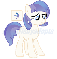 Coco Pommel x Rarity Adoptable - Offer To Adopt by MonkFishyAdopts