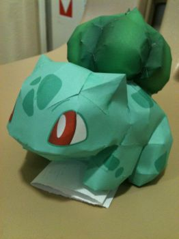 Finished Bulbasaur Papercraft by Icethornstar