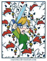 Legend of Zelda: Link Vs Chickens by caycowa