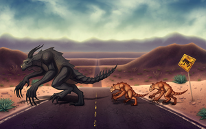 Deathclaw Crossing by Doomed-Dreamer
