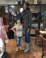 Tall girl in store by lowerrider