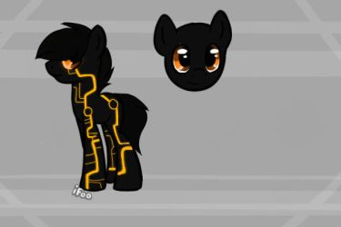 Tron Pony by EliteUnicorns