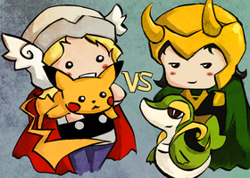 Thor vs Loki: Pokemon Asgard League by shorelle