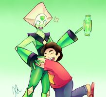 Peridot and Steven by Nana-Naexii