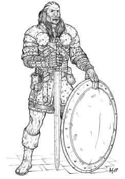 Warrior - 01 (lineart) by Area283